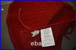 Restoration Hardware Red Berry Christmas Decor Tree Skirt, Stockings 24 items