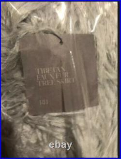 Restoration Hardware TIBETAN Nickle (Gray)FAUX FUR TREE SKIRT NEW