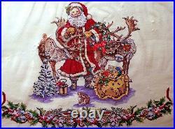 SANTA, REINDEER, TREE SKIRT Christmas KIT OOP