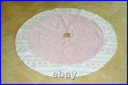 SIMPLY SHABBY CHIC by Rachel Ashwell, AUTHENTIC, pink Christmas tree skirt