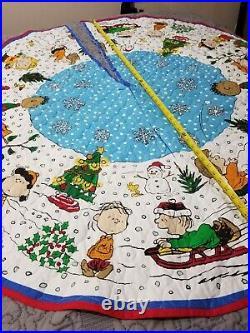 SKIRT & 22 Ornaments Charlie Brown Christmas Tree PEANUTS SNOOPY SEWN ALREADY 50