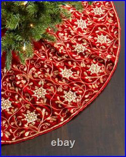 Sudha Pennathur Velvet Christmas Tree Skirt ($995) withtax