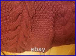 UGG Hand Knit Chunky Cable Crimson Red Christmas Tree Sweater Skirt NEW RARE