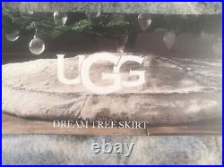 Ugg Dream Faux Fur Christmas 54 Tree Skirt NEW in Box Gray NEW
