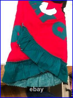 Vintage Felt Disney Santa Mickey Mouse Merry Christmas Tree Skirt 56