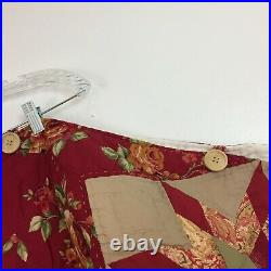 Vintage Handmade Quilted Patchwork Round Christmas Tree Skirt Size 27x 178
