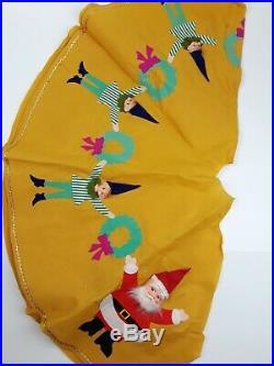 Vintage Knee Hugger Elves Pixies Lot Lite Sets Tree Skirt Christmas Santa Land