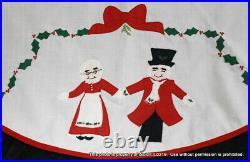 Vintage Marshall Fields Uncle Mistletoe & Aunt Holly Christmas Tree Skirt